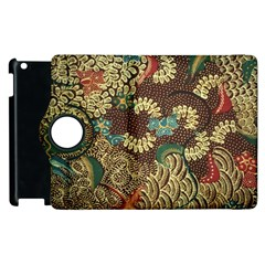 Colorful The Beautiful Of Art Indonesian Batik Pattern Apple Ipad 2 Flip 360 Case by BangZart