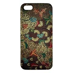 Colorful The Beautiful Of Art Indonesian Batik Pattern Apple Iphone 5 Premium Hardshell Case