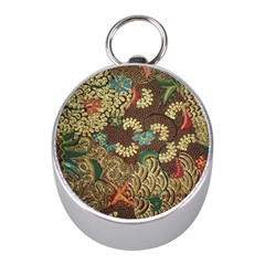 Colorful The Beautiful Of Art Indonesian Batik Pattern Mini Silver Compasses by BangZart