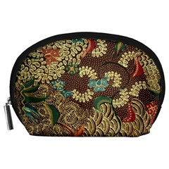 Colorful The Beautiful Of Art Indonesian Batik Pattern Accessory Pouches (large)