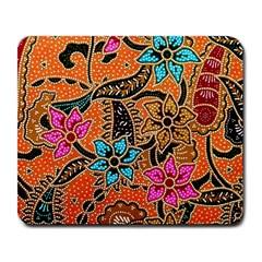 Colorful The Beautiful Of Art Indonesian Batik Pattern(1) Large Mousepads by BangZart