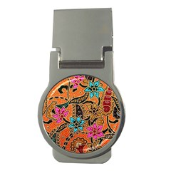 Colorful The Beautiful Of Art Indonesian Batik Pattern(1) Money Clips (round)  by BangZart