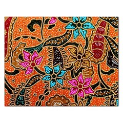 Colorful The Beautiful Of Art Indonesian Batik Pattern(1) Rectangular Jigsaw Puzzl