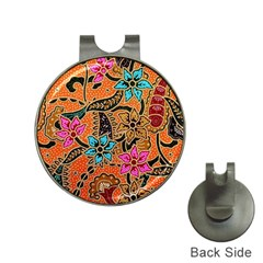 Colorful The Beautiful Of Art Indonesian Batik Pattern(1) Hat Clips With Golf Markers