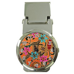 Colorful The Beautiful Of Art Indonesian Batik Pattern(1) Money Clip Watches by BangZart