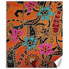 Colorful The Beautiful Of Art Indonesian Batik Pattern(1) Canvas 20  X 24   by BangZart