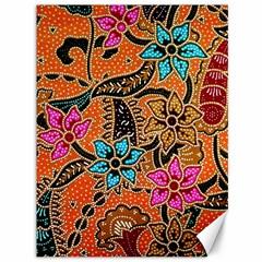 Colorful The Beautiful Of Art Indonesian Batik Pattern(1) Canvas 36  X 48   by BangZart