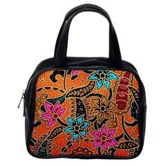 Colorful The Beautiful Of Art Indonesian Batik Pattern(1) Classic Handbags (one Side)