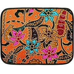 Colorful The Beautiful Of Art Indonesian Batik Pattern(1) Fleece Blanket (mini) by BangZart
