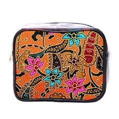 Colorful The Beautiful Of Art Indonesian Batik Pattern(1) Mini Toiletries Bags by BangZart