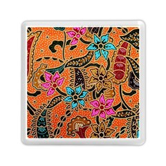 Colorful The Beautiful Of Art Indonesian Batik Pattern(1) Memory Card Reader (square)