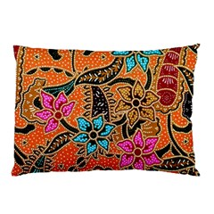 Colorful The Beautiful Of Art Indonesian Batik Pattern(1) Pillow Case (two Sides) by BangZart