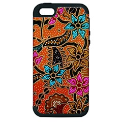 Colorful The Beautiful Of Art Indonesian Batik Pattern(1) Apple Iphone 5 Hardshell Case (pc+silicone) by BangZart
