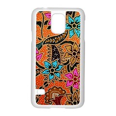 Colorful The Beautiful Of Art Indonesian Batik Pattern(1) Samsung Galaxy S5 Case (white) by BangZart