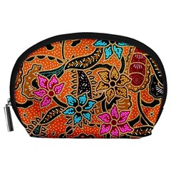 Colorful The Beautiful Of Art Indonesian Batik Pattern(1) Accessory Pouches (large)