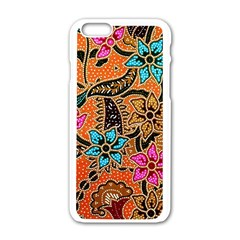 Colorful The Beautiful Of Art Indonesian Batik Pattern(1) Apple Iphone 6/6s White Enamel Case