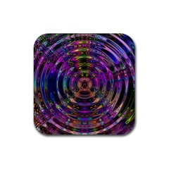 Color In The Round Rubber Square Coaster (4 Pack)  by BangZart