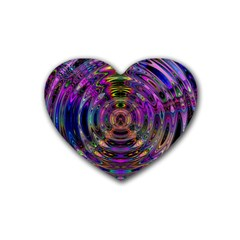 Color In The Round Heart Coaster (4 Pack)  by BangZart