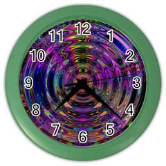 Color In The Round Color Wall Clocks