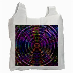 Color In The Round Recycle Bag (one Side) by BangZart