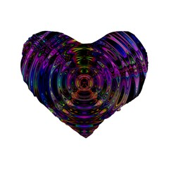 Color In The Round Standard 16  Premium Flano Heart Shape Cushions by BangZart
