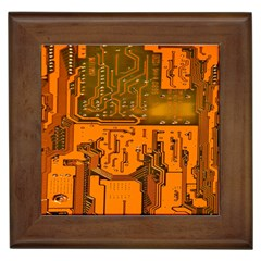 Circuit Board Pattern Framed Tiles by BangZart