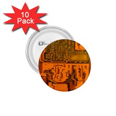 Circuit Board Pattern 1 75  Buttons (10 Pack) by BangZart