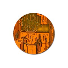 Circuit Board Pattern Magnet 3  (round) by BangZart