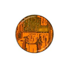 Circuit Board Pattern Hat Clip Ball Marker (4 Pack) by BangZart
