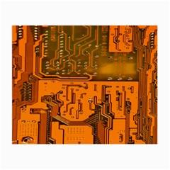 Circuit Board Pattern Small Glasses Cloth by BangZart