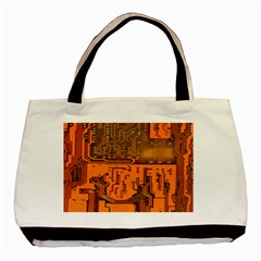 Circuit Board Pattern Basic Tote Bag by BangZart