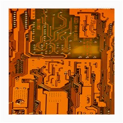 Circuit Board Pattern Medium Glasses Cloth (2 Side) by BangZart