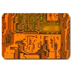 Circuit Board Pattern Large Doormat  by BangZart