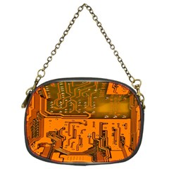 Circuit Board Pattern Chain Purses (one Side)