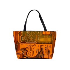 Circuit Board Pattern Shoulder Handbags by BangZart