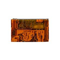 Circuit Board Pattern Cosmetic Bag (small)  by BangZart