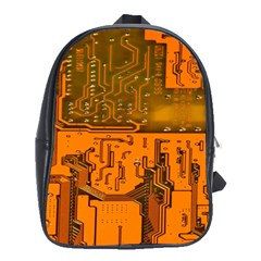 Circuit Board Pattern School Bags(large)  by BangZart