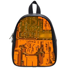Circuit Board Pattern School Bags (small)  by BangZart