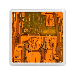 Circuit Board Pattern Memory Card Reader (square)