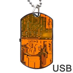 Circuit Board Pattern Dog Tag Usb Flash (one Side) by BangZart