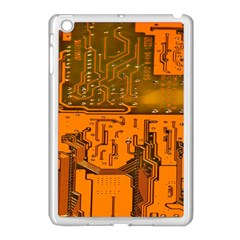 Circuit Board Pattern Apple Ipad Mini Case (white)