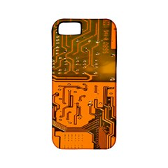 Circuit Board Pattern Apple Iphone 5 Classic Hardshell Case (pc+silicone) by BangZart