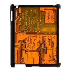Circuit Board Pattern Apple Ipad 3/4 Case (black)