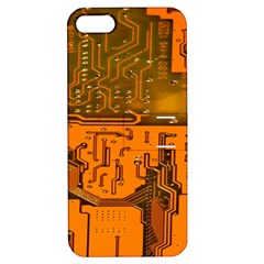 Circuit Board Pattern Apple Iphone 5 Hardshell Case With Stand