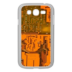 Circuit Board Pattern Samsung Galaxy Grand Duos I9082 Case (white) by BangZart