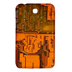 Circuit Board Pattern Samsung Galaxy Tab 3 (7 ) P3200 Hardshell Case  by BangZart
