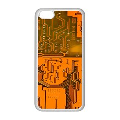 Circuit Board Pattern Apple Iphone 5c Seamless Case (white) by BangZart