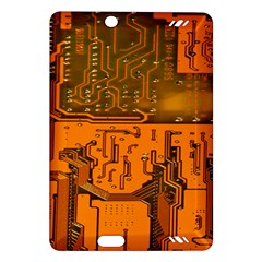 Circuit Board Pattern Amazon Kindle Fire Hd (2013) Hardshell Case by BangZart