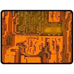 Circuit Board Pattern Double Sided Fleece Blanket (large)  by BangZart