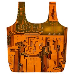Circuit Board Pattern Full Print Recycle Bags (l)  by BangZart